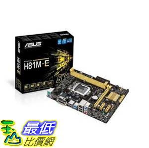 [美國直購 ShopUSA] Asus 主機板 H81M-E LGA1150/ Intel H81/ DDR3/ SATA3&USB3.0/ A&GbE/ MicroATX Motherboard $..