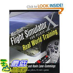 [美國直購 ShopUSA] 機師訓練手冊 744頁 Microsoft Flight Simulator X For Pilots Real World Training [Paperback] $..