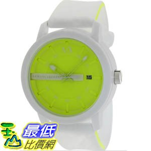 [美國直購 ShopUSA] Armani 手錶 Exchange Men's AX1241 White Silicone Quartz Watch with Yellow Dial #1681895120 _mr