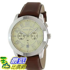 [美國直購 ShopUSA] Michael Kors 手錶 Men's MK8292 Brown Leather Quartz Watch with Beige Dial #1681891655 _mr $6336