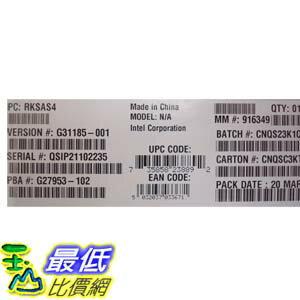 [103美國直購 ShopUSA] Intel 四核處理器 RKSAS4 RAID SAS C600 PCIe Upgrade Key New Bulk Packaging $1583