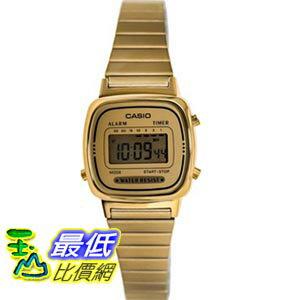 [103美國直購] Casio 手錶 Women's LA670WGA-9 Gold Stainless-Steel Quartz Watch with Digital Dial
