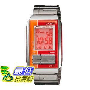 [103美國直購] Casio 手錶 #LA201W-4A Women's Futurist Metal Band Alarm Chronograph Digital Watch