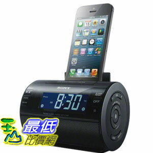 [103 美國直購] Sony ICFC11IP Lightning iPhone/iPod Clock Radio Speaker Dock (Black) 鬧鐘收音機音箱底座(黑色) $3490
