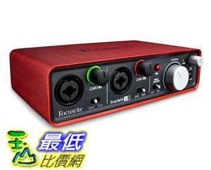 [103美國直購] Focusrite 斯嘉麗 Scarlett 2i2 USB 音訊介面 Audio Interface Red PRODAUDIOSTAR $6499