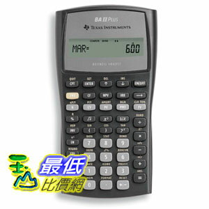 [美國直購 ShopUSA] Texas Instruments 計算器 BA II Plus Financial Calculator _T15
