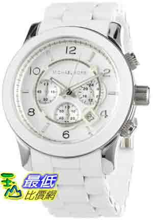 [美國直購 ShopUSA] MichaelKors 手錶 Men's MK8108 Oversize White Silicone Runway Watch