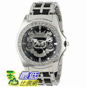 [104美國直購] Marc Ecko Men's E95016G7 Black Dial Bracelet Watch