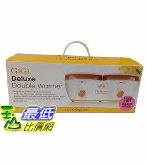 [104美國直購] GiGi 新款 Deluxe Double Warmer B00TZZOFKC with 2 free waxes 蜜蠟 加熱器組