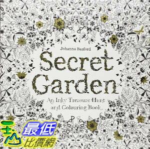 [104美國直購]  2015 美國暢銷書Secret Garden: An Inky Treasure Hunt and Coloring Book