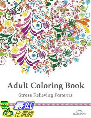 104美國直購  2015 美國暢銷書Adult Coloring Book: Stre