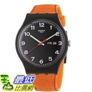 [104美國直購] 手錶 Swatch Originals Faux Fox Black Dial Unisex Watch SUOB709