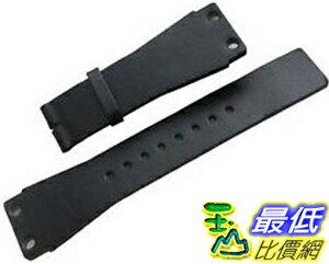 [104美國直購] 男錶 黑色皮革錶帶 Original CALVIN KLEIN Black Leather Watch Strap Band 25mm Men's New