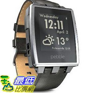 [104美國直購] 智能 手錶 401BLR Pebble Steel Smart Watch iPhone Android Devices Brushed Stainless