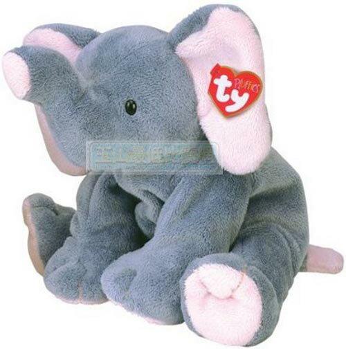 [104美國直購] 毛絨玩具 3229 Ty Winks Elephant 大象 玩偶 $498