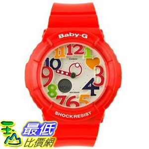 [104美國直購] 女士手錶 Casio Women's BGA131-4B Baby G Marine Resort Red Digital Watch