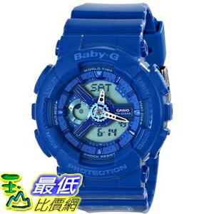 [104美國直購] 女士手錶 Casio Women's BA110BC-2ACR Baby G Analog Digital Display Quartz Blue Watch