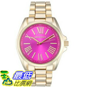 [104美國直購] 手錶 Wristology RC005 Rachel Ladies Chunky Boyfriend Gold Watch Pink Dial Face Wristwatch Women