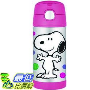 [104美國直購] Thermos 膳魔師 兒童保溫水壺 F4015PE6 Funtainer 12 Ounce Bottle Peanuts 史努比 $899