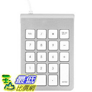 [104美國直購] 數字鍵盤 搭配 Apple Keyboard ST-2UNK Satechi Aluminum Finish USB Numeric Keypad for iMacs and Ma..