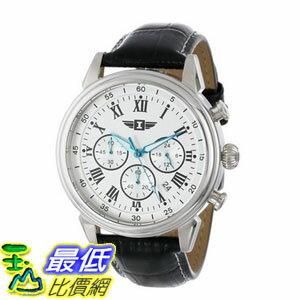 [104美國直購] 男士手錶 I By Invicta Men's 90242-002 Stainless Steel Watch with Black Leather Band
