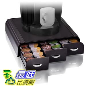 """[103美國直購] Mind Reader """"""""Anchor"""""""" Coffee Pod Storage Drawer for 36 Keurig K-Cup, 42 CBTL/Verismo Black 咖啡包容器(不含咖啡包) $2490"""