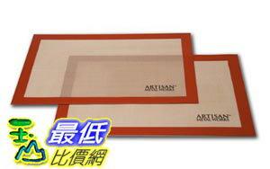 [103直購] Artisan (2 pk) 尺寸 28x42cm Silicone Baking Mat 不沾黏矽膠烘培墊 當烘焙烤布 烤箱 CB2