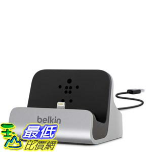 [103美國直購] Belkin 銀色款 充電 傳輸 底座 Charge and Sync Dock with Lightning Cable Connector iPhone5S 6 /6s Plu..