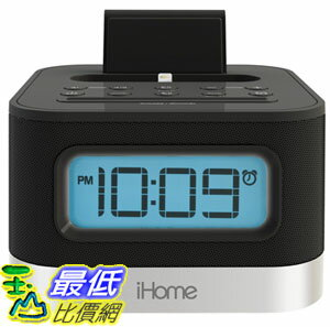 [104美國直購] iHome iPL8BN 鬧鐘收音機播放喇叭Stereo FM Clock Radio for iPhone 5/5S and 6/6Plus $3189