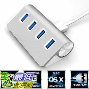 [104美國直購] 高級4端口Sabrent Premium 4 Port Aluminum USB 3.0 Hub (30 cable)  (HB-MAC3)  $913