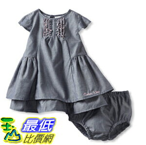 [美國直購 ShopUSA] 兒童連衣裙褲 Calvin Klein Baby-Girls Infant Dress with Panty B00BBRL1CM $1018