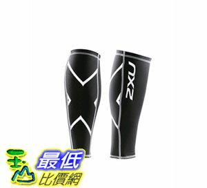 [104美國直購] 2XU Non-Stirrup Compression Calf Guard UA1987b 機能緊身壓縮 小腿套 黑色 $1598