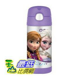 [美國直購] Thermos 紫色款 兒童保溫水壺 FUNtainer Bottle 12-Ounce Frozen 最新款--冰雪奇緣