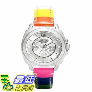 [103美國直購] 手錶 COACH Womens Boyfriend Mini Strap Watch Silver/Multi $6413