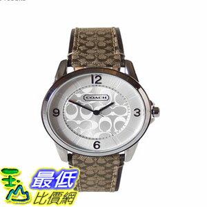 [103美國直購] 手錶 Coach women watch classic khaki logo leather strap $6381