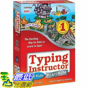 [美國直購]2012 美國暢銷軟體Typing Instructor for Kids Platinum (Windows/Mac) $682