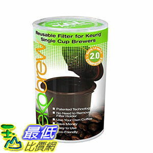 [104美國直購] 咖啡杯2入裝 B00R24KE7Q Ekobrew Refillable K-cup for Keurig 2.0 and 1.0 Brewers 2cup TC11 $1039