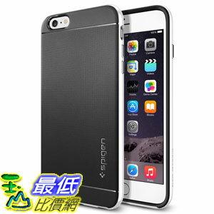 [104美國直購] Spigen 矽膠背蓋+硬框 保護殼 保護套 iPhone 6 Plus Case Infinity White 雙件式防震抗刮