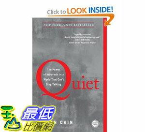 [美國直購]2012 美國秋季暢銷書排行榜Quiet: The Power of Introverts in a World That Can't Stop Talking$652