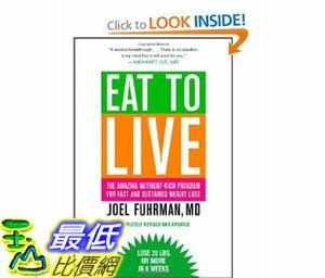 美國直購 2012 美國 暢銷書排行榜Eat to Live: The Amazing