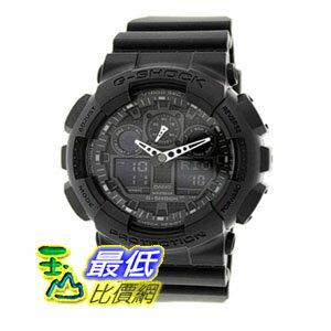 [104美國直購] Casio Men's GA100-1A1男士手錶 Black Resin Quartz Watch with Black Dial