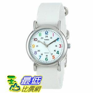 [美國直購 ShopUSA] Timex 中性男女通用錶  Weekender Brass White Nylon Ladies Watch T2N837