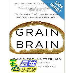【103玉山網 】 2014 美國銷書榜單 Grain Brain: The Surprising Truth about Wheat $840