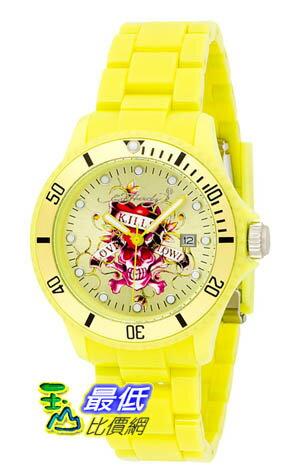 [美國直購 ShopUSA] Ed Hardy Watches VIP Color: Yellow手錶 $1696