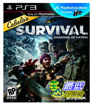 (美國代購) 卡特邁 PS3 Cabelas Survival  Shadows of Katmai  $1690