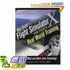 [美國直購] 微軟模擬飛行 Microsoft Flight Simulator X For Pilots Real World Training [Paperback] $1324