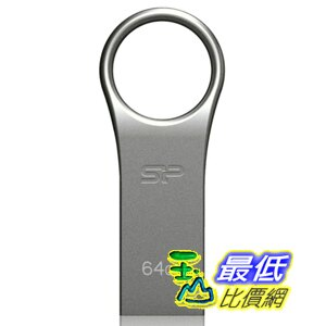 [美國直購 ShopUSA] Silicon Power 閃存驅動器 64GB Firma ZN F80 USB 2.0 Flash Drive, Gray (SP064GBUF2F80V1S)