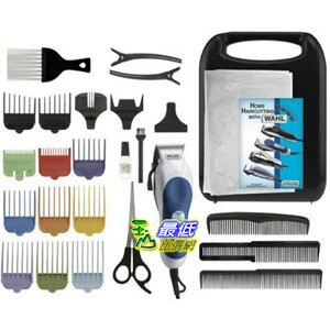 [103 美國直購 ShopUSA] Wahl 79300-1001 Color Pro Hair Clipper Kit-26 Piece Kit 理髮工具26件套$1532