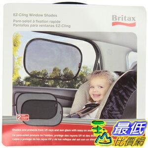 [美國直購 ShopUSA] Britax 2 Pack EZ-Cling Sun Shades, Black汽車窗戶遮陽防曬防紫外線檔網 UPF 30+(二入裝)