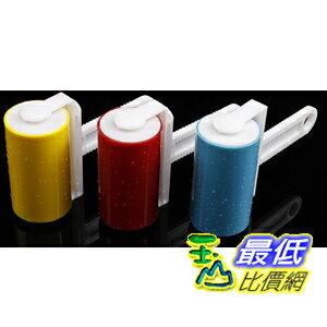 [103 玉山最低比價網] 可水洗重複使用黏毛滾輪 去除毛髮.灰塵.紙屑 家用型 短柄滾筒( Z46)